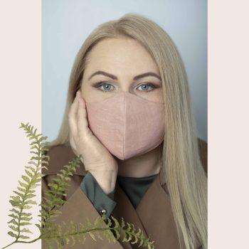 Apsauginė veido kaukė iš lino