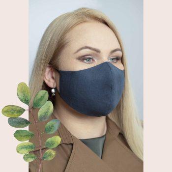 apsauginė lininė kaukė