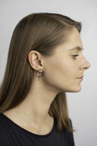 minimalistiniai auskarai