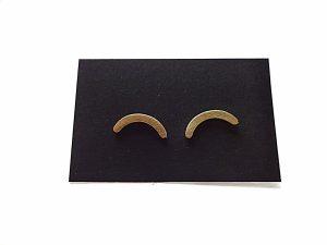 Minimalistiniai žalvariniai hipoalerginiai auskarai riestainiuka