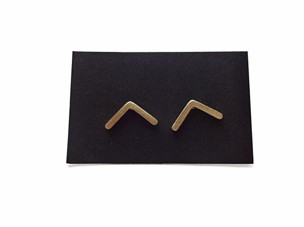 Minimalistiniai hipoalerginiai auskarai kampukai