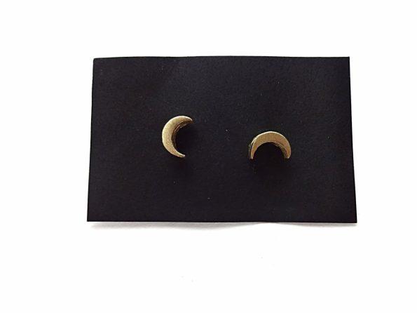 Žalvariniai auskarai mėnuliukai